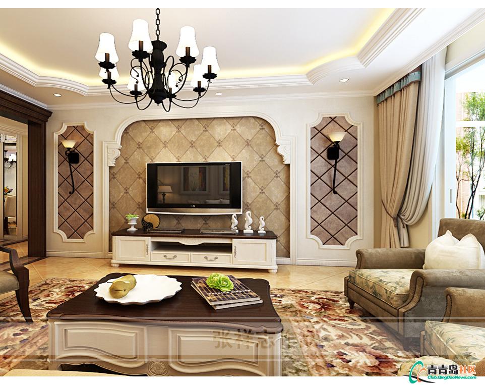 墅欧式新古典风格装修设计效果图-青岛实创装饰公司