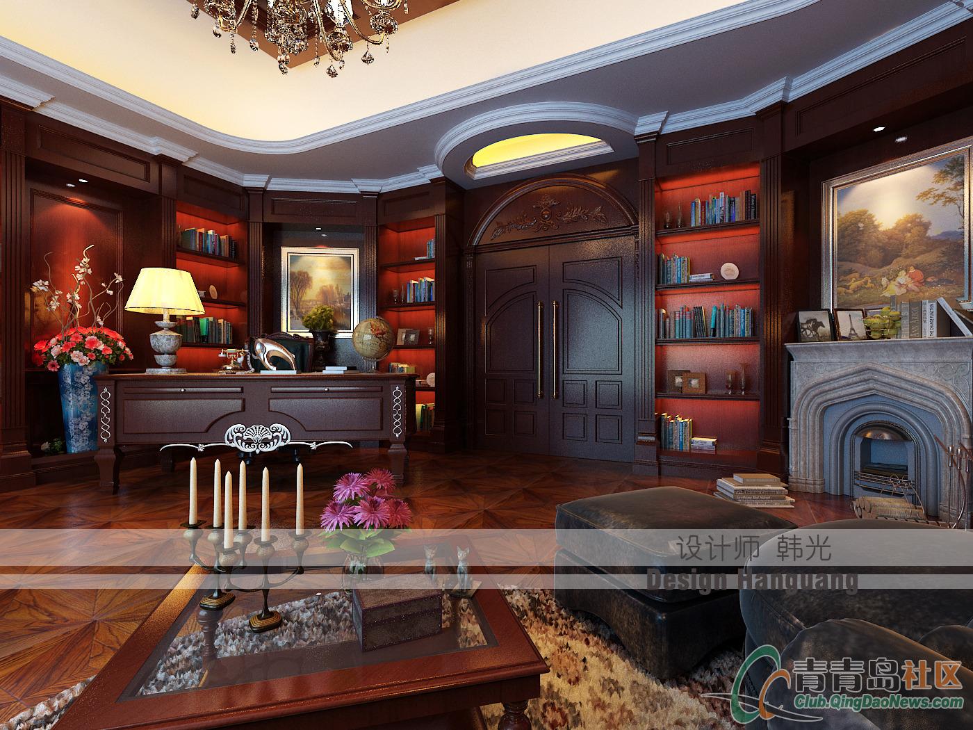 【精】【青岛实创装饰】精美的欧式别墅装修设计图