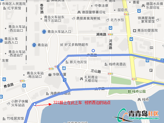 青岛到崂山地图