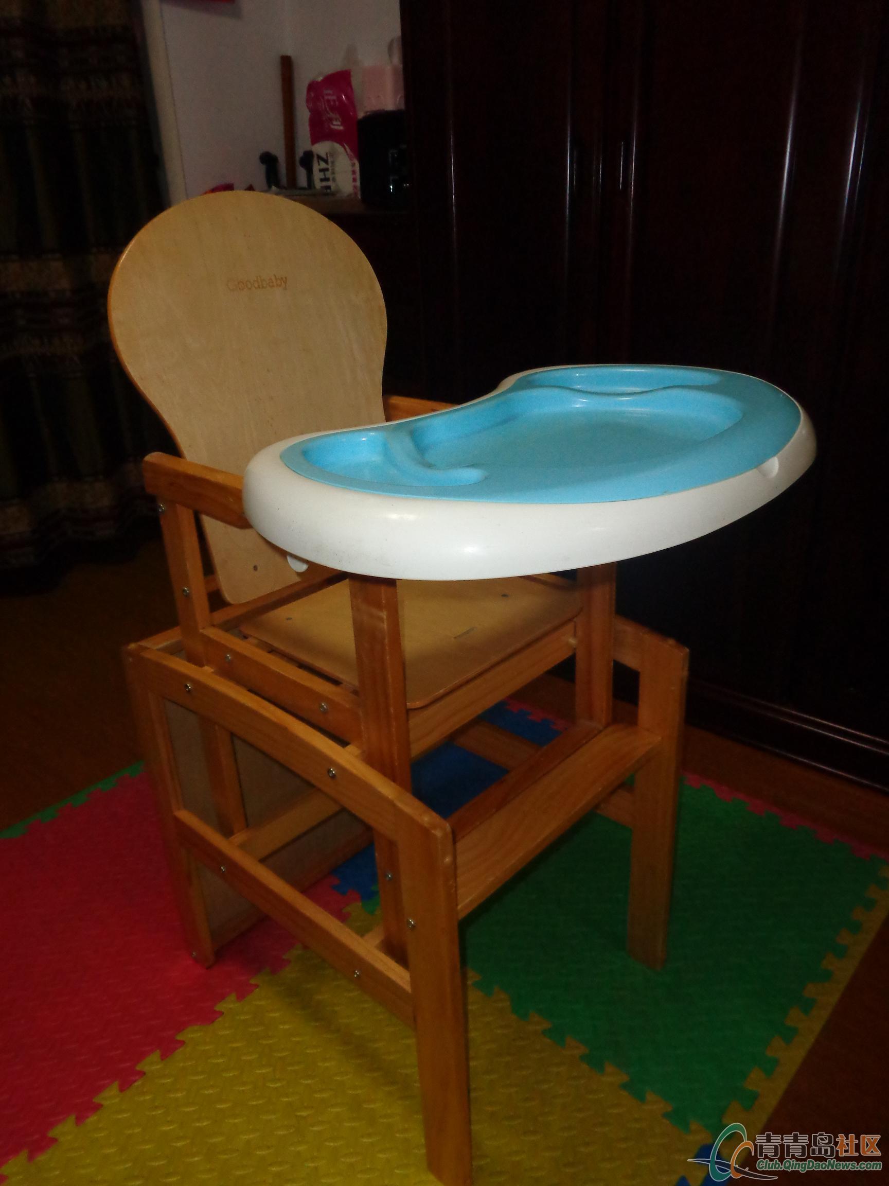 转让8成新好孩子实木儿童餐桌椅