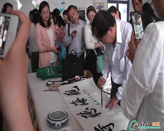上马中心小学承办青岛市课程书法现场2015年中小学生十三守则绘画图图片