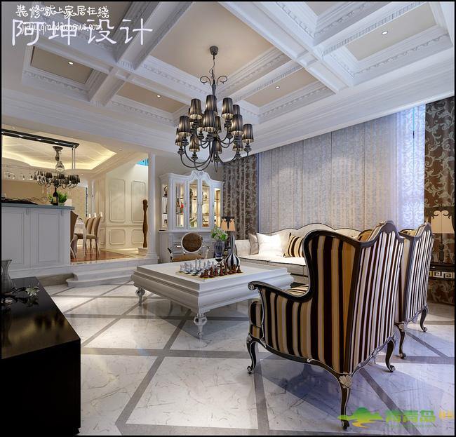 红墅湾独栋别墅奢华欧式风格装修效果图