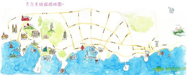 萌萌哒女神经的手绘地图送给亲们