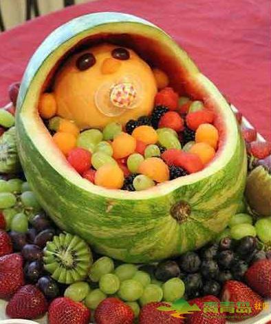 婚宴上抢眼花式水果拼盘,惊呆你的小伙伴