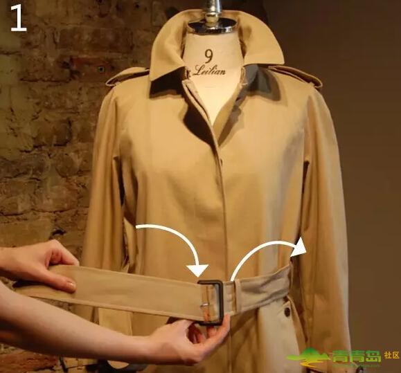 实用又能提升气质的风衣/大衣腰带系法