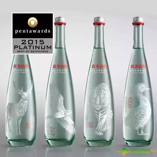 农夫山泉获2015年度pentawards国际包装设计大奖饮料