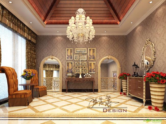 欧式风格大气典雅装修设计图--青岛东方家园即墨别墅