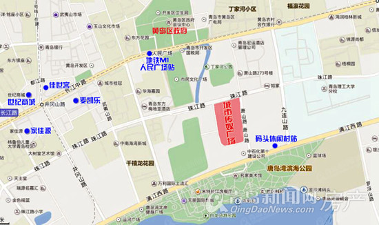 城市传媒广场,西海岸,区位图