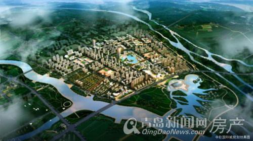 中欧国际城,鸟瞰,效果图