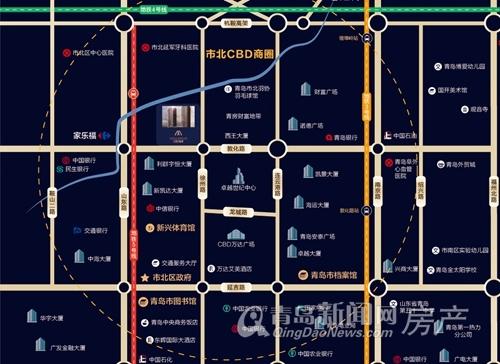 CBD首府,公寓,区位图,青岛新闻网