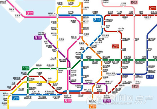 青岛地铁,远景,规划