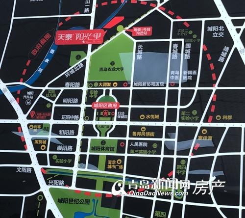 天泰阳光里,区位图,青岛新闻网房产