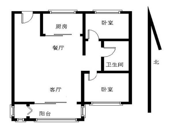 两室一厅平房设计
