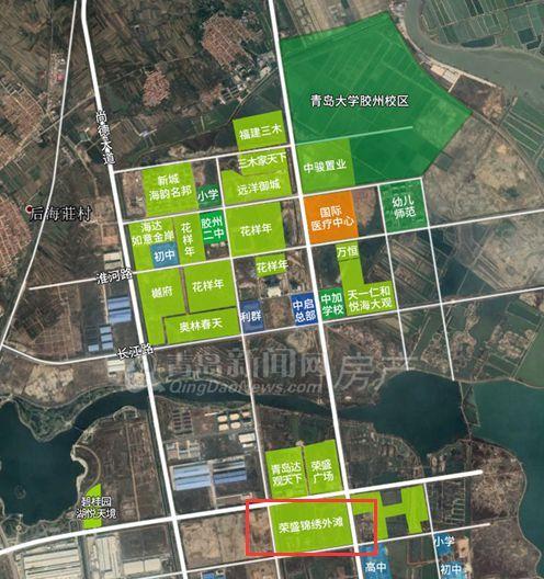 胶州开发区鸟瞰图