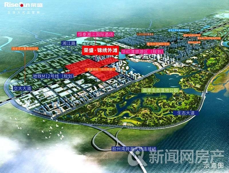 胶州荣盛锦绣外滩瞰景高层均价9800元/㎡