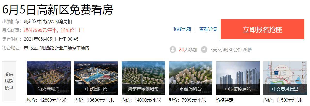 高新区,看房车,新房,青岛新闻网