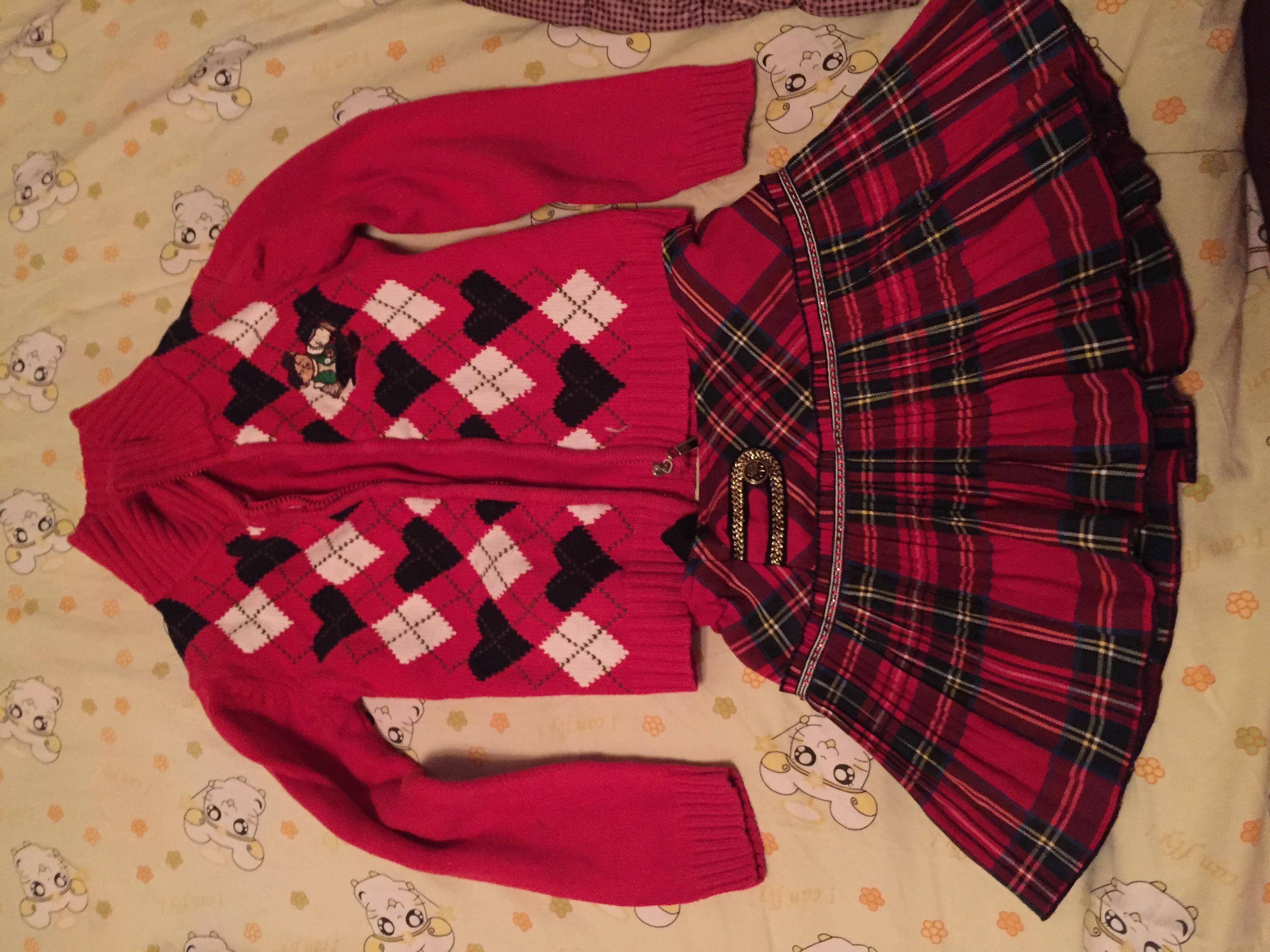 女童毛衣七八件130码4-7岁穿着八成