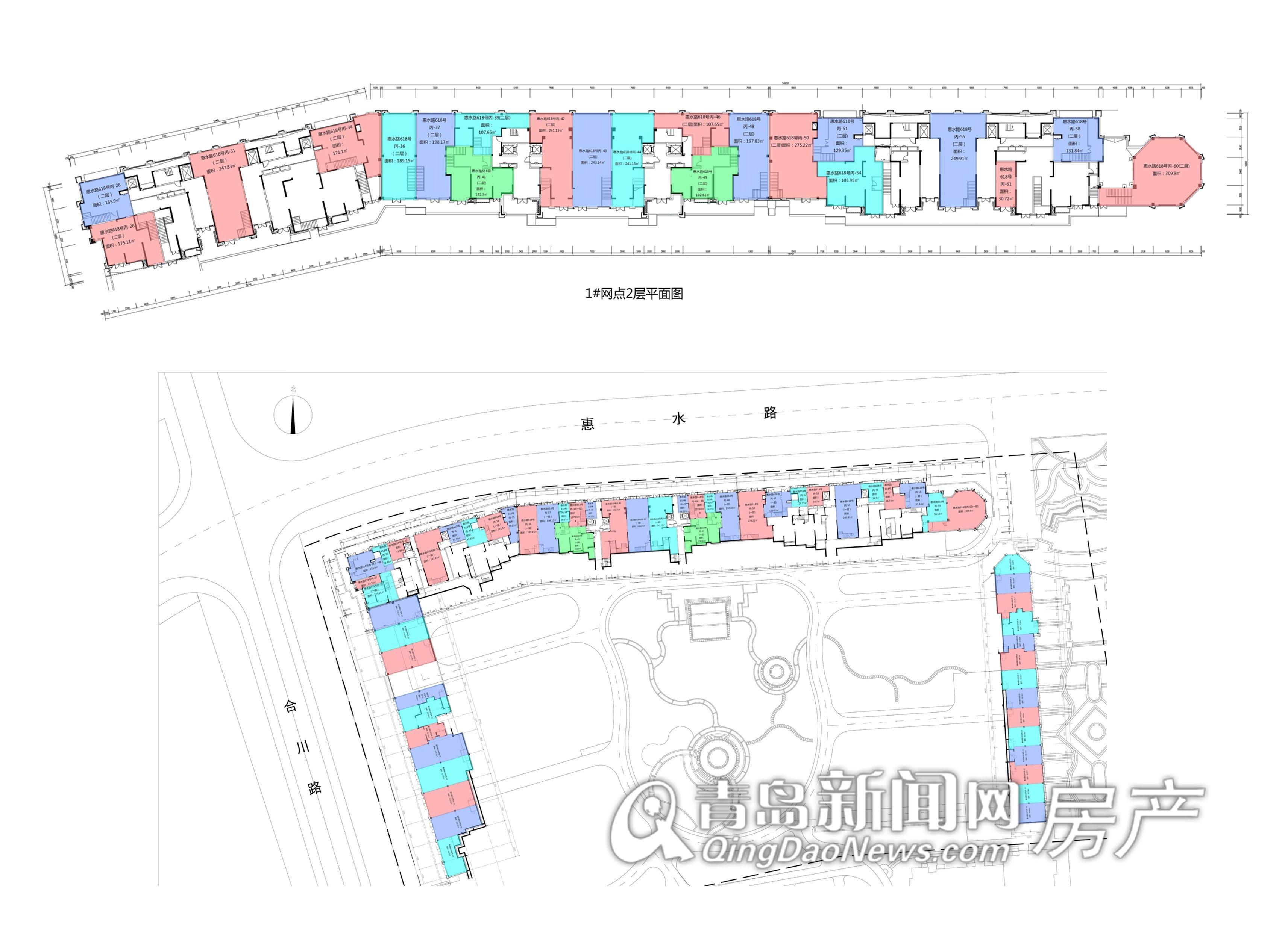 山河城底商平面图 大图展示