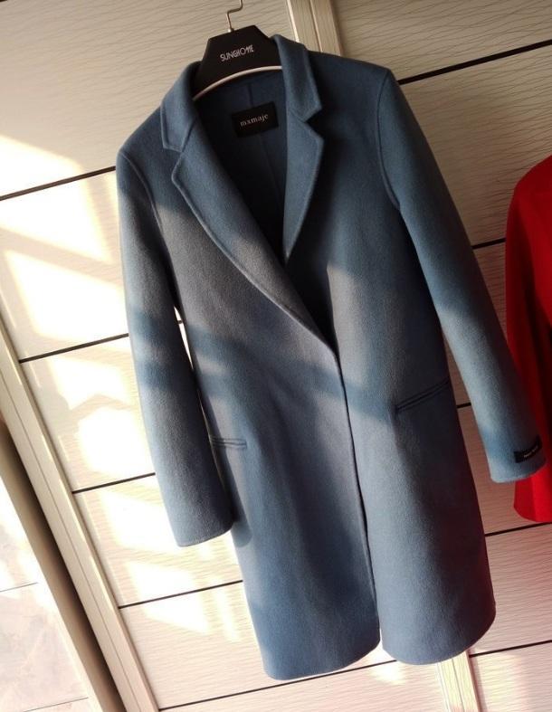 韩版双面呢子大衣