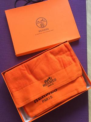 全新加厚纯棉HERMES毛巾+浴巾礼盒